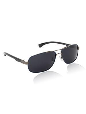 Velocity VCPOL25GUNBLUSMOKE1 Grey Unisex Square Sunglasses