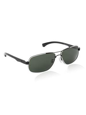 Velocity VCPOL25MATBLKWHT Black Unisex Square Sunglasses