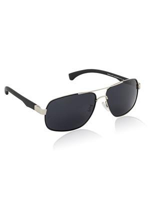 Velocity VCPOL25MTSILVR Silver Unisex Square Sunglasses