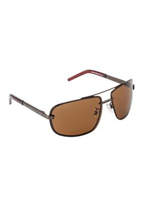 Velocity VCPOL27BRNBRN Brown Unisex Wrap Sunglasses