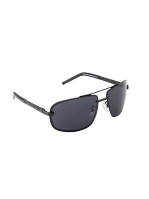 Velocity VCPOL27MTBLKSMK Black Unisex Wrap Sunglasses