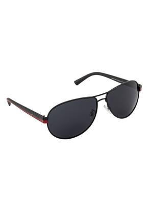 Velocity VCPOL28MTBLKREDSMK Black Unisex Aviator Sunglasses
