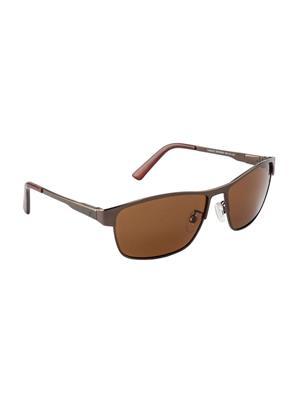 Velocity VCPOL30BRNBRN Brown Unisex Square Sunglasses