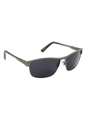 Velocity VCPOL30GUNSMK Grey Unisex Square Sunglasses
