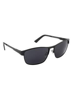 Velocity VCPOL30MTBLKSMK Black Unisex Square Sunglasses