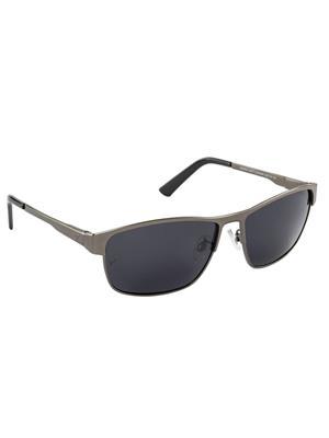 Velocity VCPOL30MTGUNSMK Grey Unisex Square Sunglasses