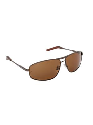Velocity VCPOL31BRNBRN Brown Unisex Square Sunglasses