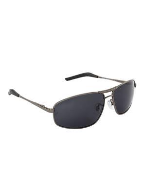 Velocity VCPOL31GUNSMK Grey Unisex Square Sunglasses