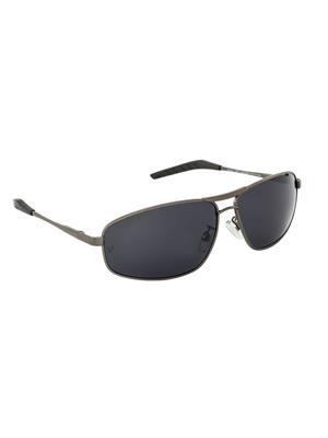 Velocity VCPOL31MTGUNSMK Grey Unisex Square Sunglasses