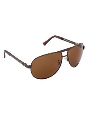 Velocity VCPOL34BRNBRN Brown Unisex Aviator Sunglasses