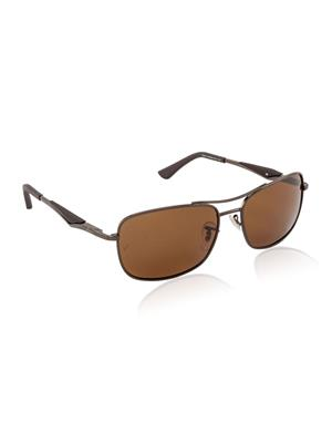 Velocity VCPOL41BROWN Brown Unisex Square Sunglasses