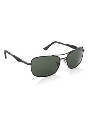 Velocity VCPOL41MTBLKGRN Black Unisex Square Sunglasses