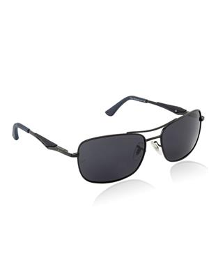 Velocity VCPOL41MTBLKSMK Black Unisex Square Sunglasses