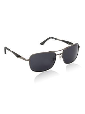 Velocity VCPOL41MTGUNSMK Grey Unisex Square Sunglasses