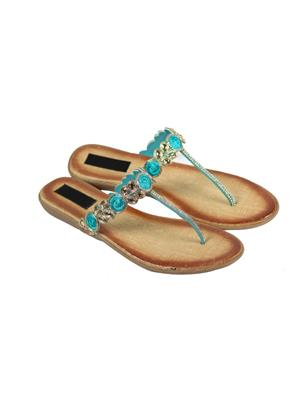 Vandy Crafts Vcwingtip Turquoise Women Flat