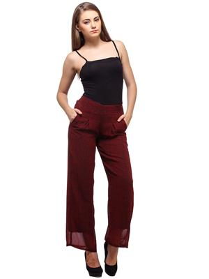 Diva DV60 Red Women Plazzo Pants