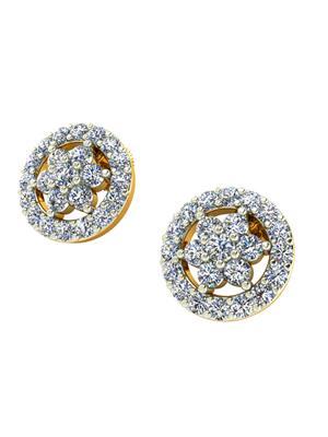 JewelFox VJER0459 Gold Diamond Women Earring
