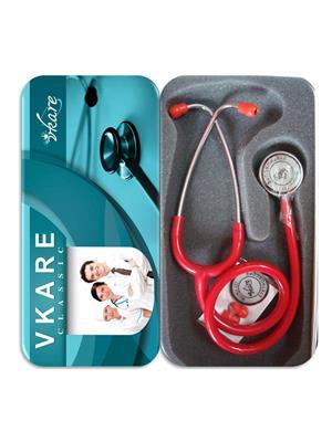 Vkare VKB0004 Deluxe Stethoscope - Classic Red