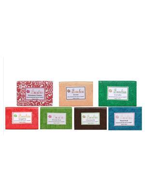 Fuschia Set of 7 Natural Handmade Glycerine Soaps - CS2