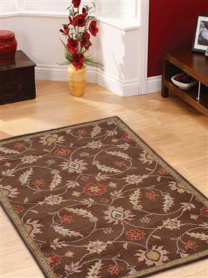 Royzez Handmade Woollen Rug Brown K00233