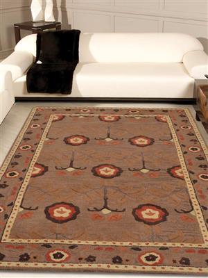 Royzez Handmade Woollen Rug Beige K00234