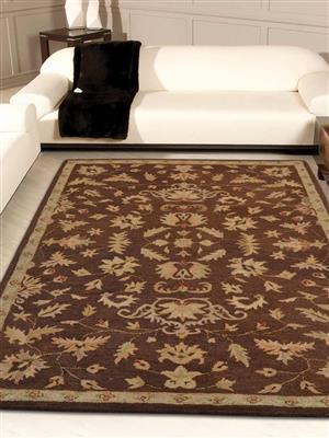 Royzez Handmade Woollen Rug Brown K00686