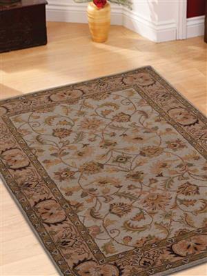 Royzez Handmade Woollen Rug Beige Ivory K0BG09