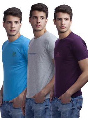 Duke VP50-BREEZE Multicolored Men T-Shirt Pack of 3