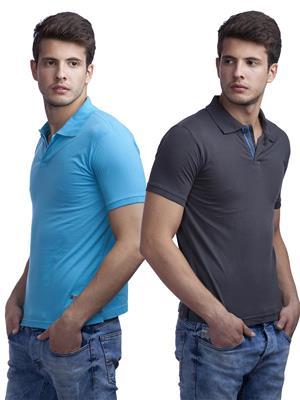 Duke VP78-SUNNY Multicolored Men T-Shirt Pack of 2