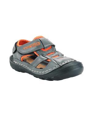 Vostro VSD0010 Dark Grey And Orange Women Sandal