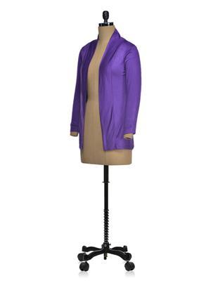 Vivomo VSHRLGPUPL Fashoina Long Purple Women Shrug