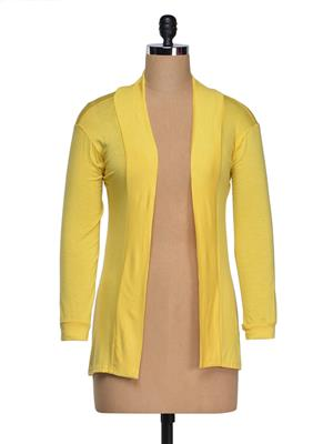 Vivomo VSHRLGYWLO Fashoina Long Yellow Women Shrug