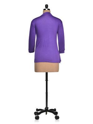 Vivomo VSHRPOKBLU Fashoina Long Pocket Blue Women Shrug