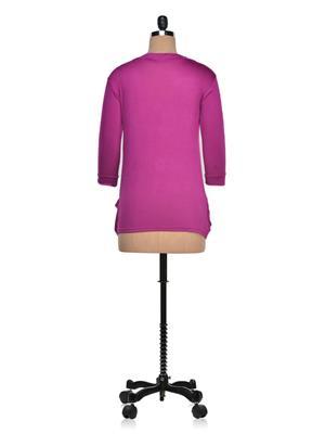 Vivomo VSHRPOKMGNT Fashoina Long Pocket Megenta Women Shrug