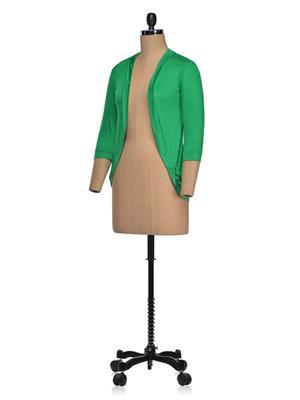 Vivomo VSHRPOKPGRN Fashoina Long Pocket Parrot Green Women Shrug