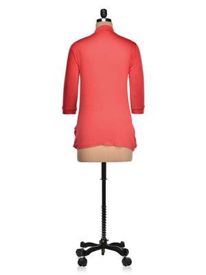 Vivomo VSHRPOKRED Fashoina Long Pocket Red Women Shrug