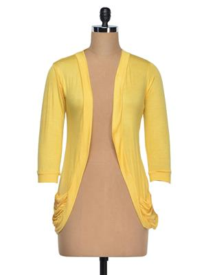 Vivomo VSHRPOKYWLO Fashoina Long Pocket Yellow Women Shrug