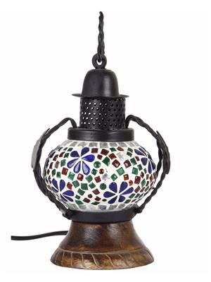 VarEesha Vssl001 Multicolored Wood And Glass Lamp