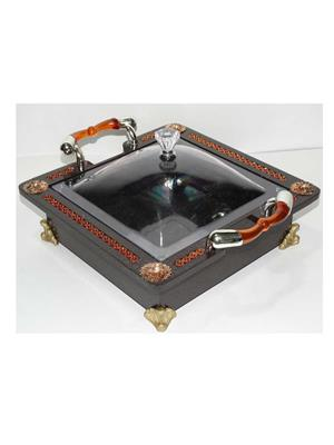 Emerald VSSRB01 Decorative Serving Tray Brown