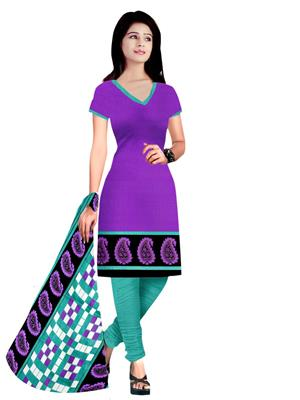 Anshul Textile VS1133Bl Multicolored Women Dress Material
