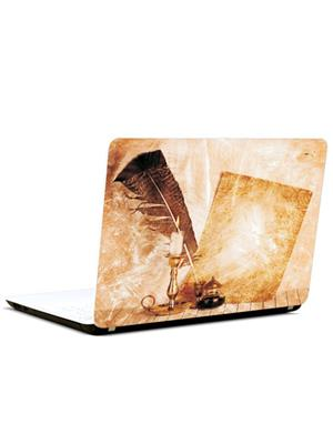 Pics And You VT013 Quill And Candle 3M/Avery Vinyl Laptop Skin Decal