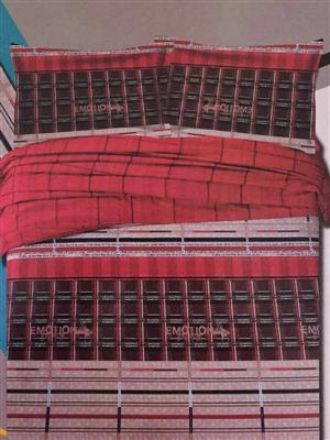 Home Basics TRA4 Red Double BedSheet
