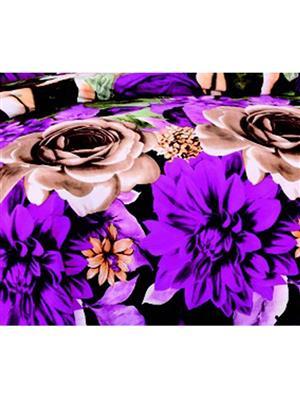 Durend DUB06 Purple Double Bedsheet