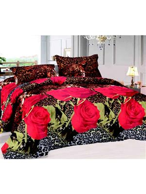 Durend DUB12 Red Double Bedsheet