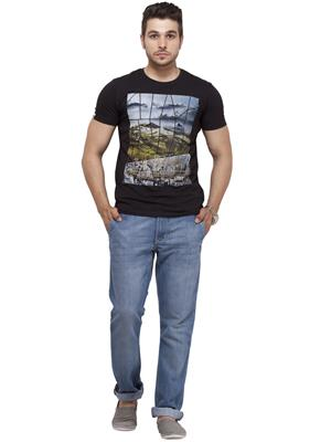 Spykar RTS S15-11 Black Men T-Shirt
