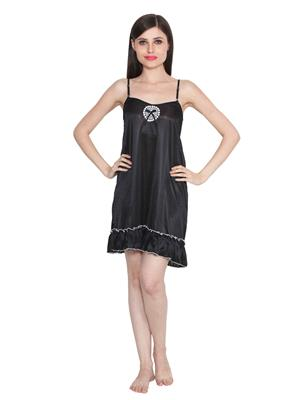 Ansh Fashion Wear W-Dll-D2-Blk Black Women Babydoll