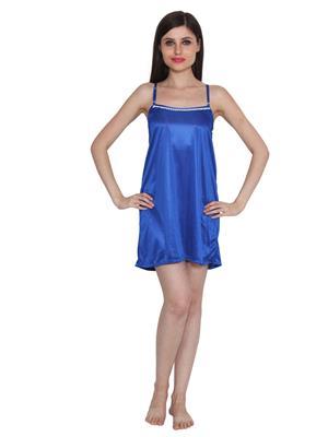 Ansh Fashion Wear W-Dll-D5-Blu Blue Women Babydoll