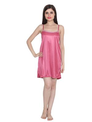 Ansh Fashion Wear W-Dll-D5-Pnk Pink Women Babydoll