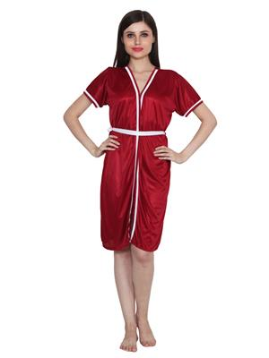 Ansh Fashion Wear W-Dll-D8-Mrn Maroon Women Babydoll