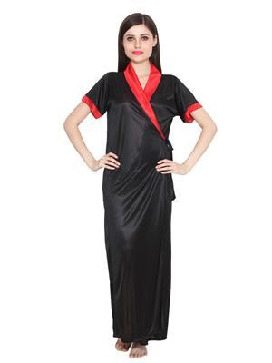 Ansh Fashion Wear W-Dll-D9-Blk Black Women Babydoll